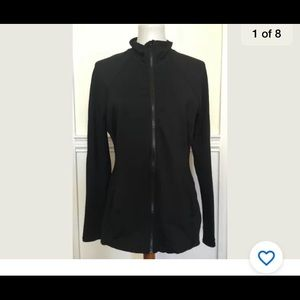 Zella Large black work out zip up jacket sheer bk